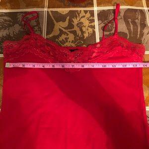 LVL X Basix Intimates & Sleepwear - LVL C Basix red lace cami
